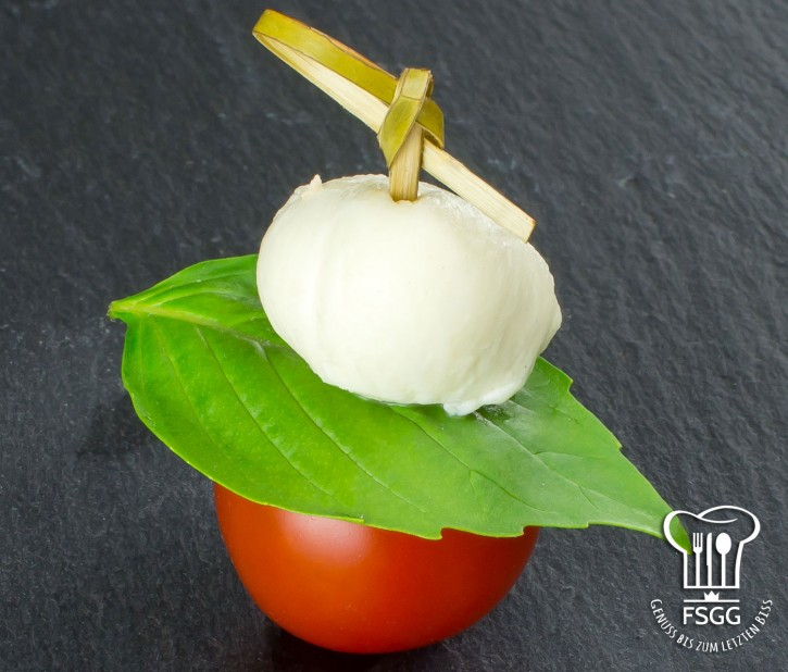Mozzarella/Tomate-Spieß