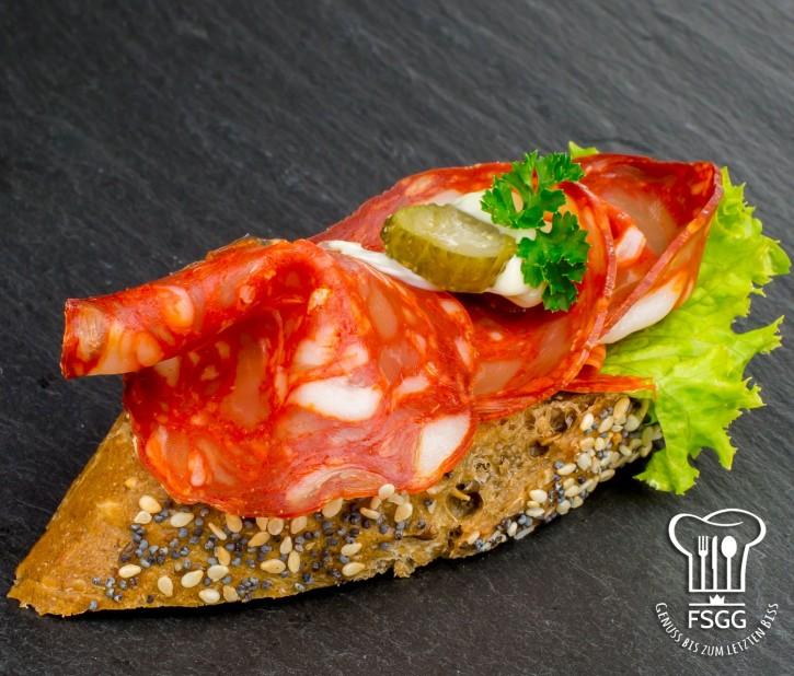 Canapé Chorizo Rustika