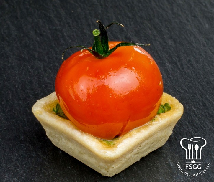 Tomaten-Tarte Ziegenkäse