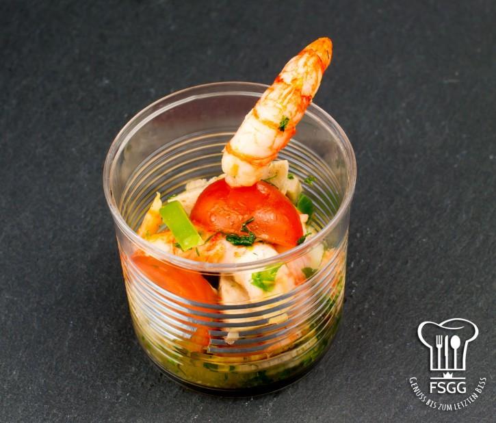 Weißwurst- & Flusskrebs-Salat