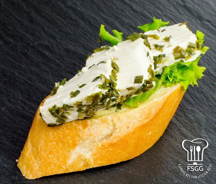 Canapé Frischkäse-Schnittlauch Weizen