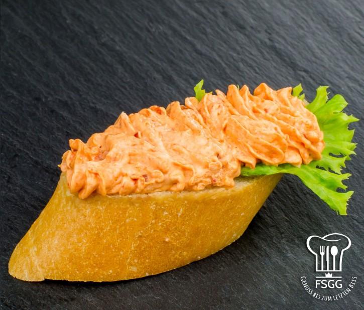 Canapé Paprikacreme Weizen