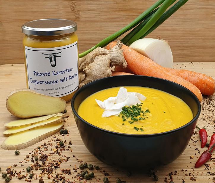 Pikante Karotten-Ingwer Suppe